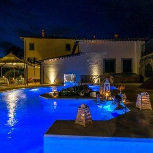 esperienze cortona spa resort & spa piscina vista esterno